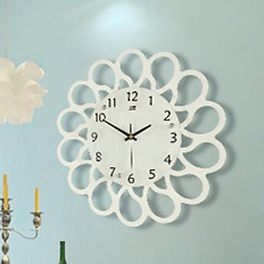 Moderno/Contemporâneo Escritório/Negócio Família Escola/Graduação Amigos Relógio de parede,Inovador Madeira 37*37 Interior Relógio