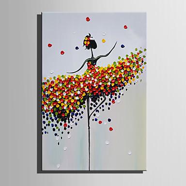 Pintura a Óleo Pintados à mão - Pessoas Estilo Europeu Modern Tela de pintura