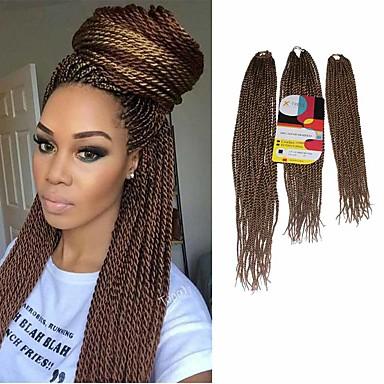 Senegal Twist Vlechten Hair Extensions 18Inch+20Inch+22Inch Kanekalon 81 Strands Strand 200g gram haar Vlechten