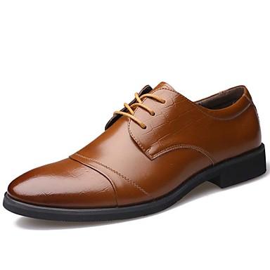 Herre sko Lær Vår / Høst Trendy støvler / Komfort Oxfords Svart / Brun