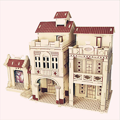 Wooden Puzzle Wooden Model Famous buildings Chinese Architecture House Professional Level Wooden 1 pcs Kid's Adults' Boys' Girls' Toy Gift