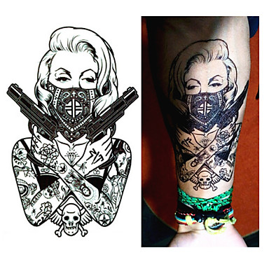 1 pcs Tatoveringsklistremerker midlertidige Tatoveringer Romantisk serie / Tegneserie-serien Til engangsbruk kropps~~POS=TRUNC arm / Bein / Tattoo-klistremerke