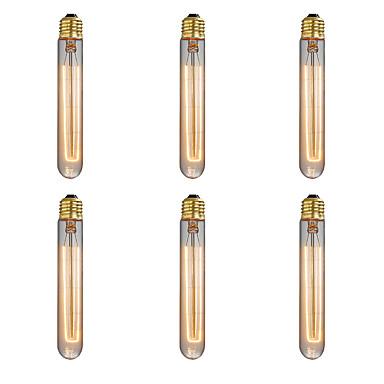Ecolight™ 6pcs 40W E26/E27 T185 2300 K Incandescente Vintage Edison Light Bulb AC 220-240V V