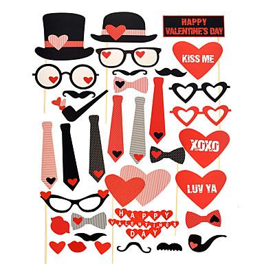 Bryllup / jubileum / Engasjement / Valentine / Valentinsdag / Bryllupsfest Hardt Kortpapir Blandet Materiale Bryllupsdekorasjoner