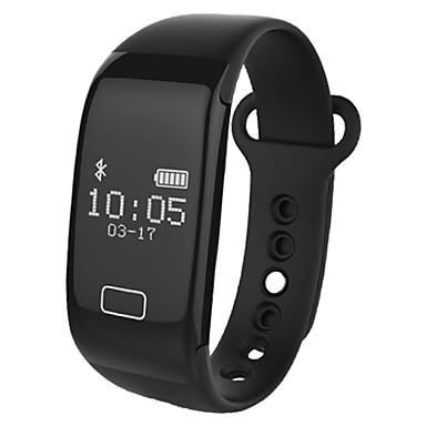 Smart armbånd Pekeskjerm Pulsmåler Kalorier brent Pedometere Distanse måling Anti-lost Beskjedkontroll Kamerakontroll Lang Standby Sport