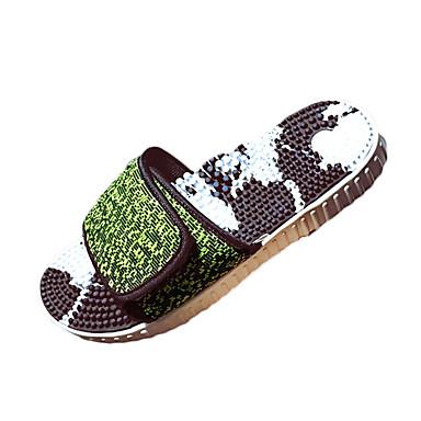 Herre sko Tekstil Sommer Komfort Tøfler og flip-flops Gange Grå / Grønn / Svart