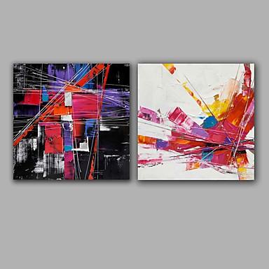Hang malte oljemaleri Håndmalte - Abstrakt Europeisk Stil / Moderne Lerret