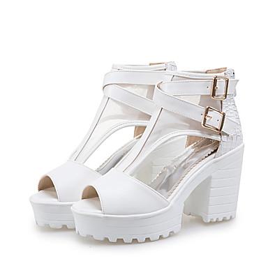 Talon Heel amp; 05609601 Bottier Boucle Bureau ouvert Chaussures pour Bout Soirée Sandales Femme Polyuréthane Block et carrière Eté Printemps STRUxq8X
