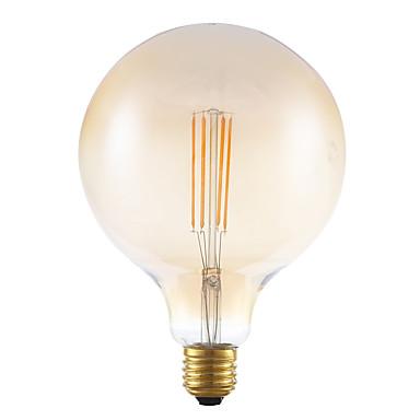 GMY® 1pc 4W 350lm E27 LED-glødepærer G125 4 LED perler COB Mulighet for demping Dekorativ Ravgult 220-240V