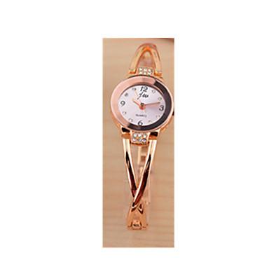 baratos Relógios Senhora-Mulheres Bracele Relógio Simulado Diamante Relógio Quartzo Rosa Folheado a Ouro Aço Inoxidável Rosa 30 m / Analógico-Digital Branco Preto Rosa claro