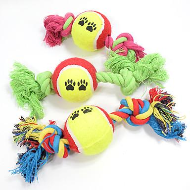 1f6d8c55a3e7 Μπάλα Παιχνίδια για μάσημα Διαδραστικό Κινούμενα σχέδια Σχοινί Ελαστικό  Υφασμα Βαμβάκι Για Παιχνίδι για γάτες Παιχνίδι για σκύλους
