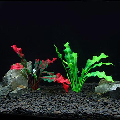 Aquário Decoração Planta Aquática Artificial Plástico