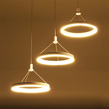 Modern acrílico simplicidade led pingente luzes três anéis de luz interior para sala de estar quarto, restaurante