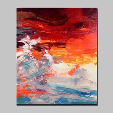 Hang malte oljemaleri Håndmalte - Landskap Moderne / Europeisk Stil Inkluder indre ramme / Stretched Canvas