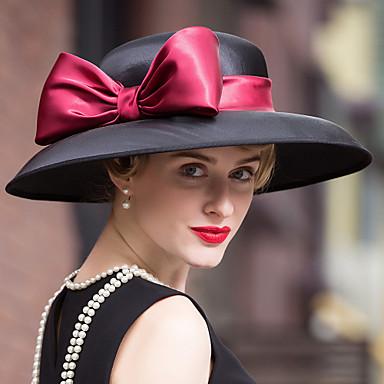 voordelige Hoeden-Fluweel Kentucky Derby Hat / hatut / Hoofddeksels met Bloemen 1pc Bruiloft / Speciale gelegenheden  / ulko- Helm