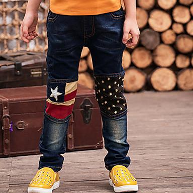 جينز قطن سادة كرتون صبيان أطفال
