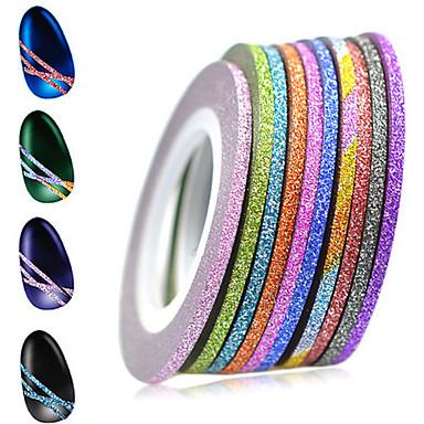 1set 12rolls Nail Foil Striping Tape Neglekunst Manikyr pedikyr Mote Daglig / Folie Stripping Tape