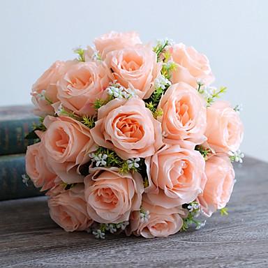 Kunstige blomster 1 Gren Europeisk Stil Roser Bordblomst