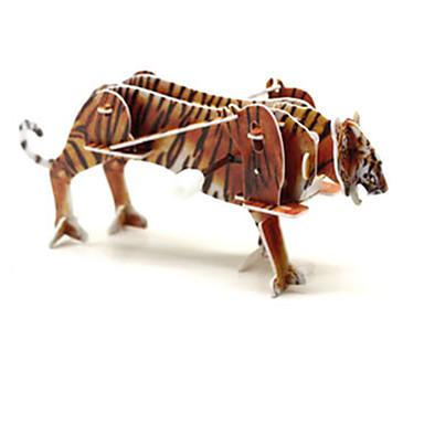 voordelige 3D-puzzels-Legpuzzels 3D-puzzels Bouw blokken DHZ-speelgoed Tiger 1 Noviteiten & Fopspeelgoed