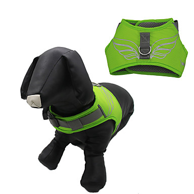 Cachorro Arreios Retratável Prova-de-Água Reflector Desenho Animado Náilon Malha Laranja Azul Escuro Amarelo Verde Azul Claro