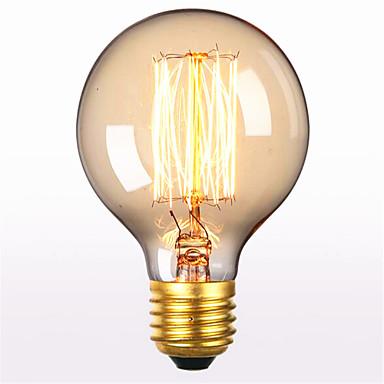 1pç 40 W E26 / E27 G80 Branco Quente 2300 k Retro / Decorativa Incandescente Vintage Edison Light Bulb 220-240 V