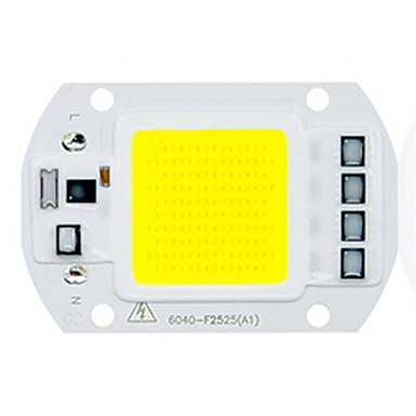 1pc COB 220-240V Selvlysende Led Brikke Aluminium for DIY LED Flood Light Spotlight 50W
