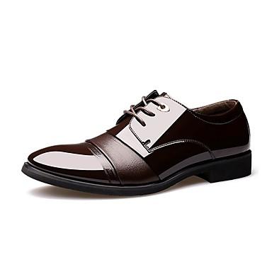 Homens sapatos Microfibra Primavera Outono Conforto Oxfords Caminhada Cadarço para Casual Escritório e Carreira Festas & Noite Marron
