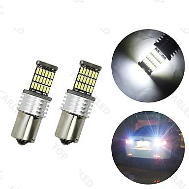 4pcs BA15S (1156) Coche Bombillas 6 W SMD 4014 700 lm LED Luz de la cola For Universal
