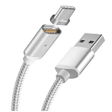 USB 2.0 / Type-C Magnetisk Kabel Samsung / Huawei / LG til 100 cm Til Nylon