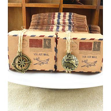 abordables Support de Cadeaux pour Invités-Rond / Carré / Rectangulaire Papier durci Titulaire de Faveur avec Ruban / Imprimé Boîtes à cadeaux - 50