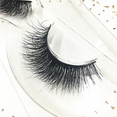 1 Cílios Cílios Olhos Tiras Completas de Cílios Cílios de Lã Animal Banda Preta