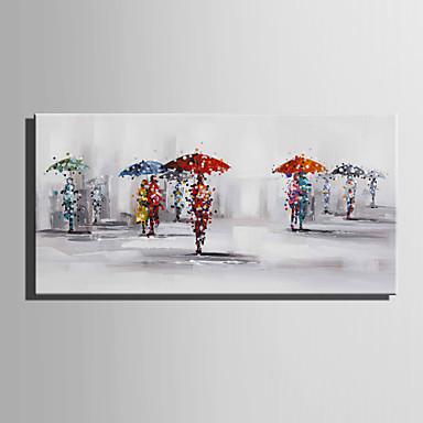 Hang malte oljemaleri Håndmalte - Landskap Europeisk Stil Moderne Lerret
