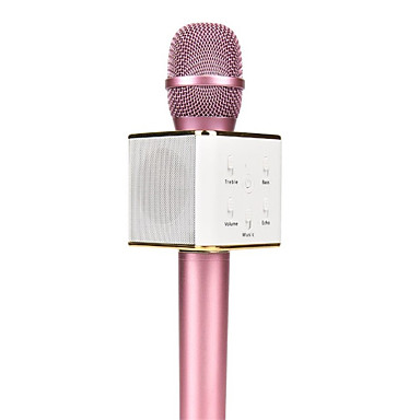 cheap Microphones-Original Q7 Magic Karaoke Microphone Phone KTV Player Wireless Condenser Bluetooth Iphone Android