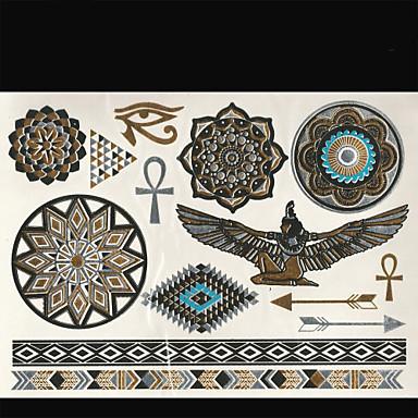 타투 스티커 쥬얼리 시리즈 Totem Series 기타 Non Toxic 종족의 허리 아래 Waterproof여성 남성 어른 Teen 플래시 문신 임시 문신