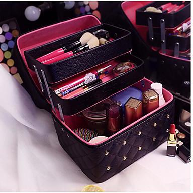 Γυναικείο Τσάντες PU Νεσεσέρ καλλυντικών για Causal Μαύρο Ασημί Ανθισμένο  Ροζ 321010499c1