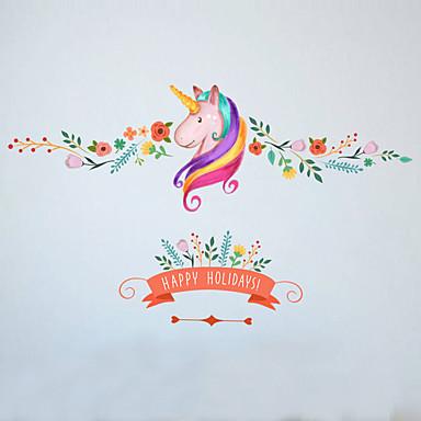 Animais Floral Desenho Animado Adesivos de Parede Autocolantes de Aviões para Parede Autocolantes de Parede Decorativos, Vinil Decoração