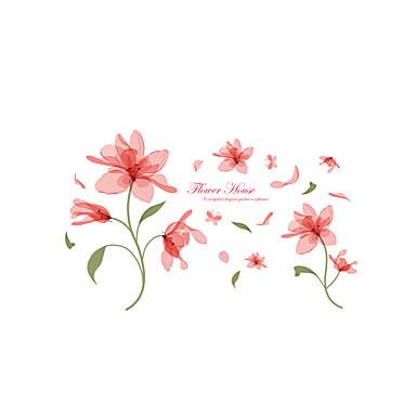 Romance Floral Desenho Animado Adesivos de Parede Autocolantes de Aviões para Parede Autocolantes de Parede Decorativos, Vinil Decoração