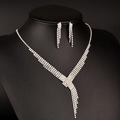 Damen Halsketten Kubikzirkonia Kubikzirkonia Platin Kreisförmig Quadratisch Luxus Elegant Modisch Hochzeit Party Verlobung 1 Halskette 1