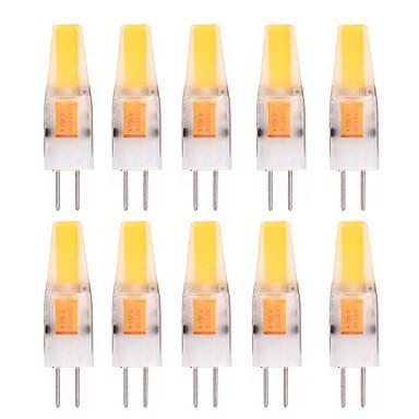YWXLIGHT® 10pçs 2W 150-200lm G4 Luminárias de LED  Duplo-Pin T 1 Contas LED COB Decorativa Branco Quente Branco Frio 12V 12-24V