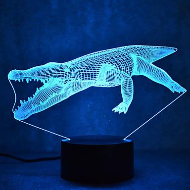 1 Pça. Luz noturna 3D Cores Múltiplas USB Sensor Regulável Impermeável Cores Variáveis