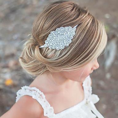 Cristal Strass Tecido Headbands Flores 1 Casamento Ocasião Especial Casual Escritório e Carreira Capacete