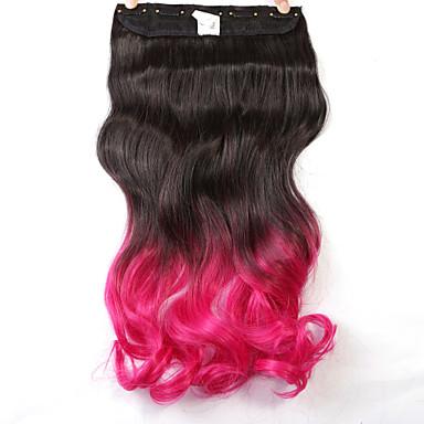 Neitsi 22 '' 110 г одна часть 5 клипов в синтетических наращиваниях волос и кусочки волос полная голова t-rose #