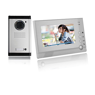 Actop quente vendendo alta qualidade profissional de segurança 7 polegadas cor lcd scren vídeo porta telefone com boa voz