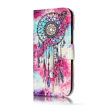Capinha Para Samsung Galaxy A5(2017) A3(2017) Porta-Cartão Carteira Com Suporte Flip Capa Proteção Completa Borboleta Apanhador de Sonhos