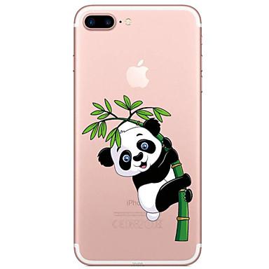 Pouzdro Uyumluluk Apple iPhone 7 / iPhone 7 Plus Şeffaf / Temalı Arka Kapak Karton / Panda Yumuşak TPU için iPhone 7 Plus / iPhone 7 / iPhone 6s Plus