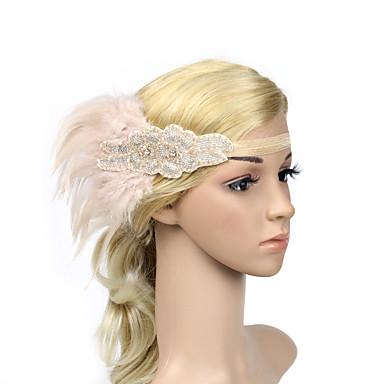 Strass / Pena / Poliéster Headbands / Flores / Decoração de Cabelo com Floral 1pç Ocasião Especial Capacete