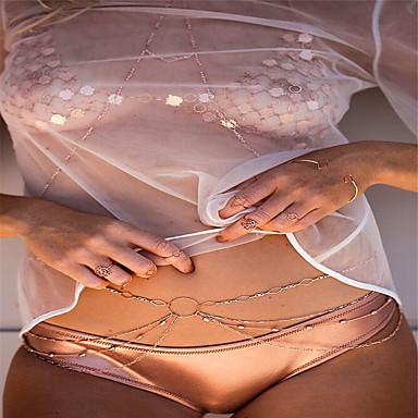 Cadeia corpo / Cadeia de barriga Fashion Mulheres Dourado Bijuteria de Corpo Para Festa / Ocasião Especial / Casual