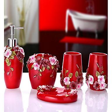 Conjunto de Banho Tradicional Resina 5pçs - Banho do hotel