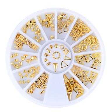 voordelige Nagelstrass & Decoraties-1set Nagelsieraden Nagel kunst Manicure pedicure Dagelijks metallinen / Modieus / Kynsien korut
