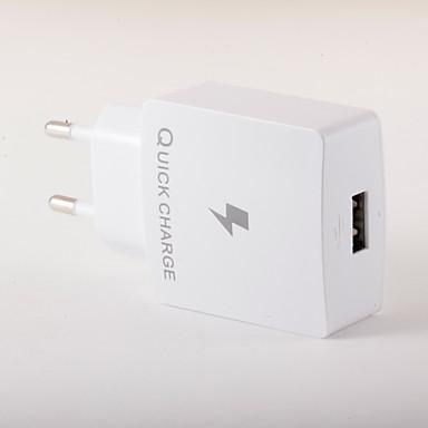 Carregador Portátil Carregador USB Ficha EU Carregamento Rápido 1 Porta USB 3 A para